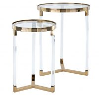 gold end tables